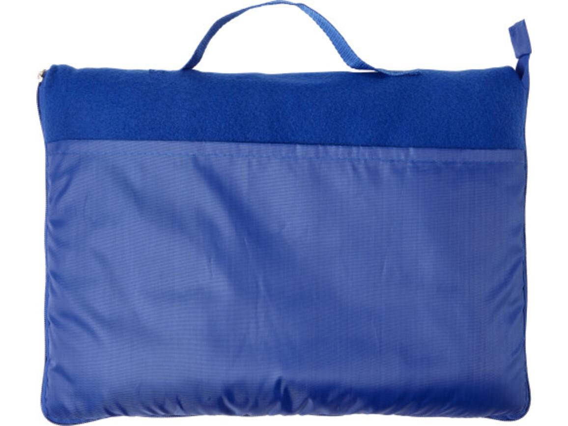 Fleece-Decke 'Groningen' aus Polyester – Blau bedrucken, Art.-Nr. 005999999_7952