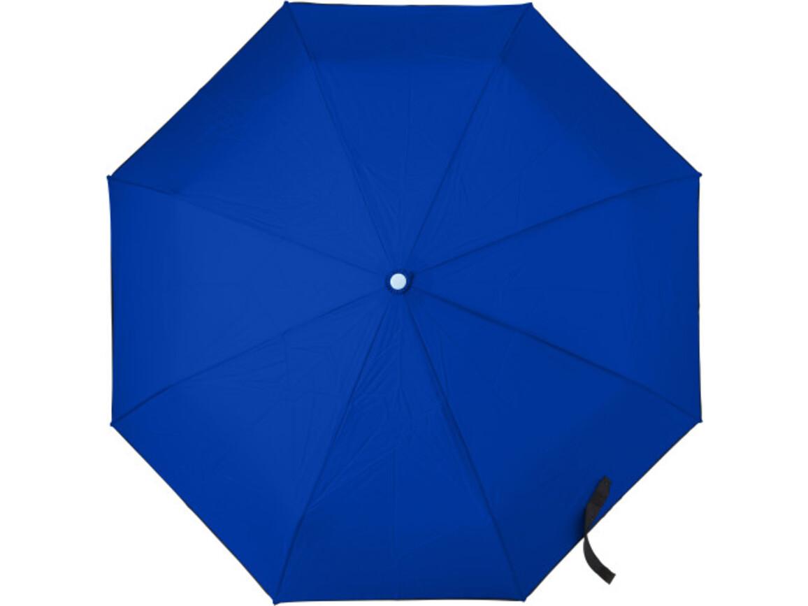 Automatik Taschenschirm 'Dina' aus Pongee-Seide – Blau bedrucken, Art.-Nr. 005999999_7964