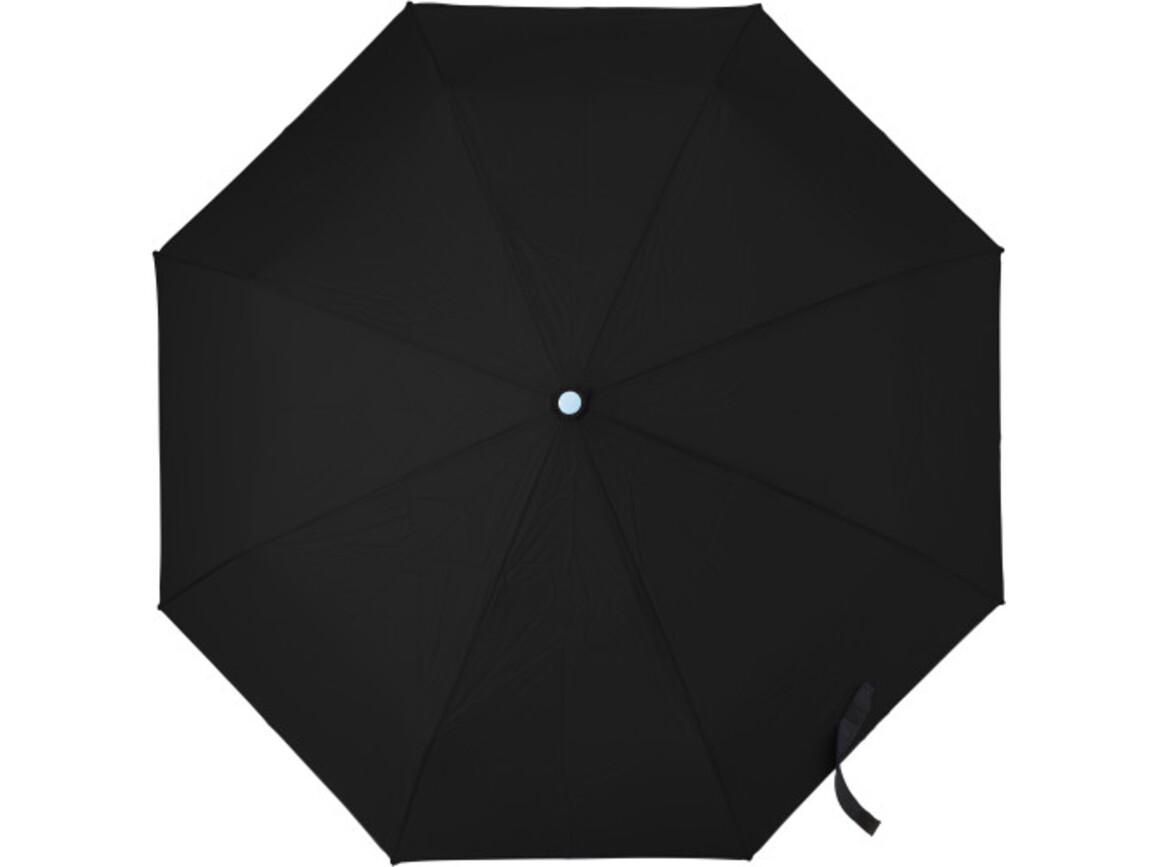 Automatik Taschenschirm 'Dina' aus Pongee-Seide – Schwarz bedrucken, Art.-Nr. 001999999_7964