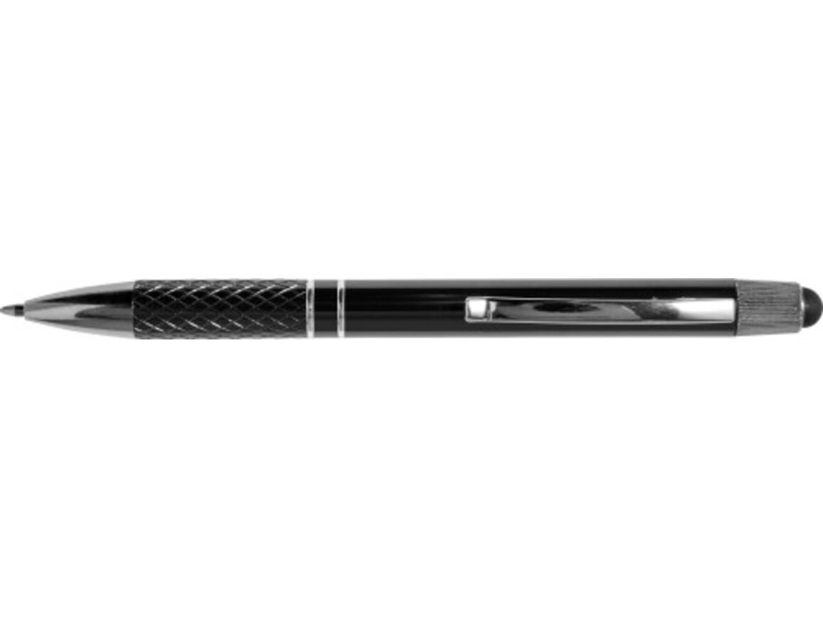Kugelschreiber 'River' aus Aluminium – Schwarz bedrucken, Art.-Nr. 001999999_7975