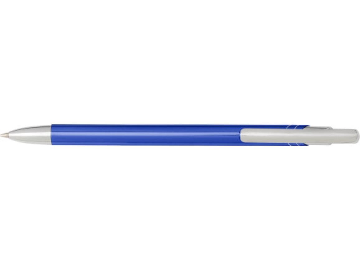 Kugelschreiber 'Slim' aus Aluminium – Blau bedrucken, Art.-Nr. 005999999_7983