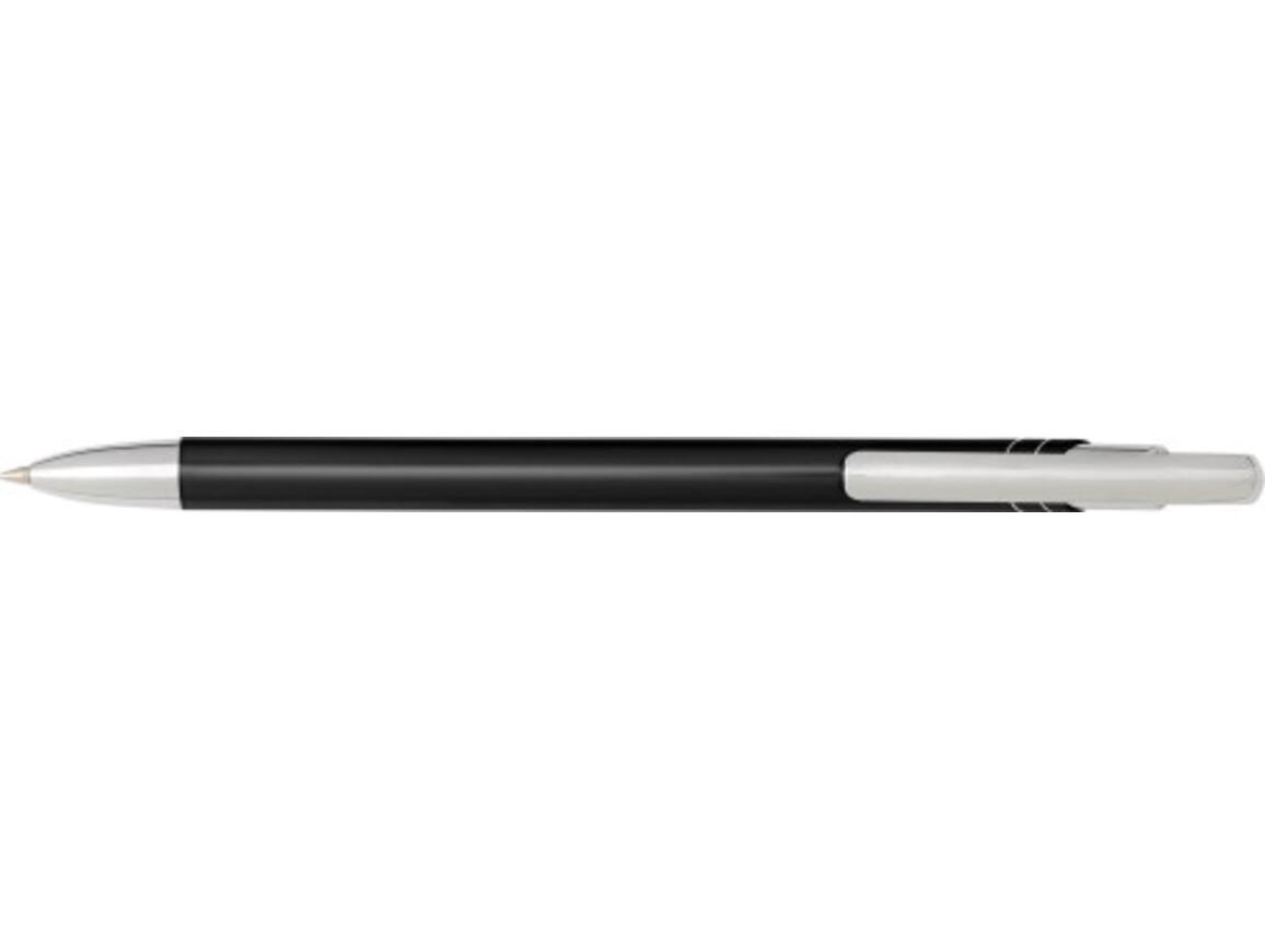 Kugelschreiber 'Slim' aus Aluminium – Schwarz bedrucken, Art.-Nr. 001999999_7983