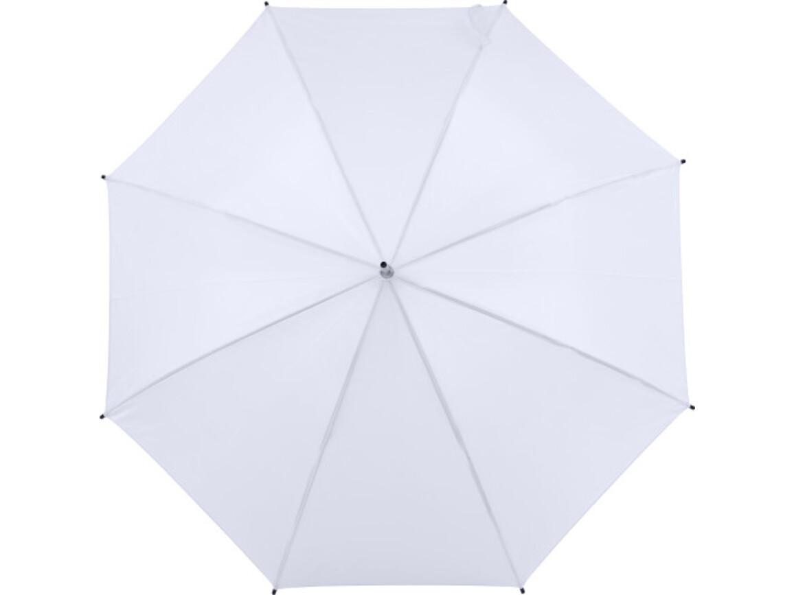 Automatischer Regenschirm 'Sandra' – Weiß bedrucken, Art.-Nr. 002999999_8003