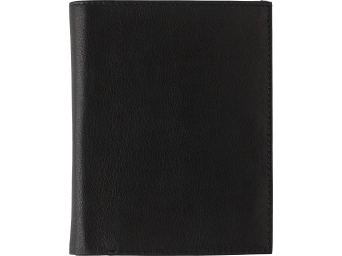 Geldbörse 'Smudo' aus Spaltleder – Schwarz bedrucken, Art.-Nr. 001999999_8060