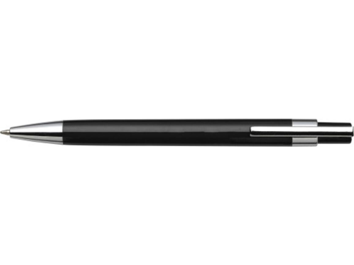 Kugelschreiber 'Mataro' aus Kunststoff – Schwarz bedrucken, Art.-Nr. 001999999_8121