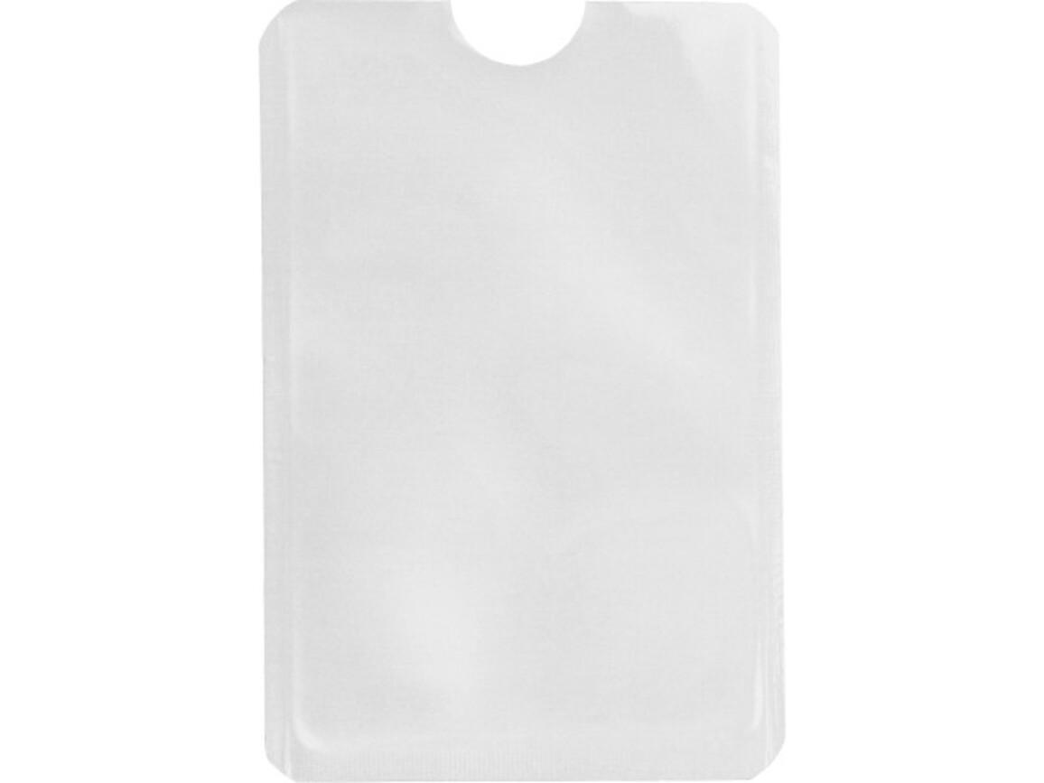 Kartenhalter 'Check' aus Aluminium – Weiß bedrucken, Art.-Nr. 002999999_8185
