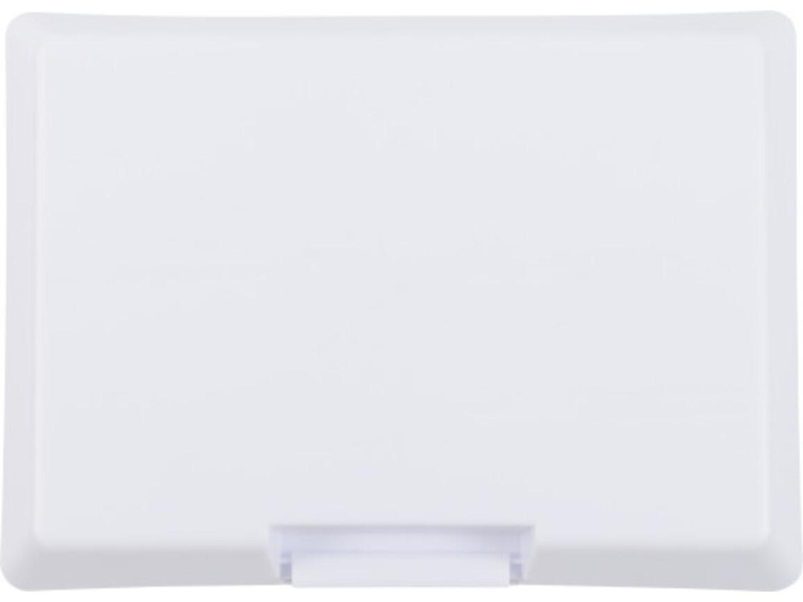 Brotdose 'Bernd' aus Kunststoff – Weiß bedrucken, Art.-Nr. 002999999_8296