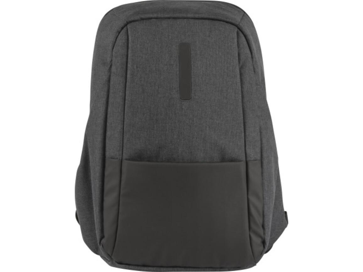 Laptop Rucksack 'Personal' aus PVC – Schwarz bedrucken, Art.-Nr. 001999999_8456