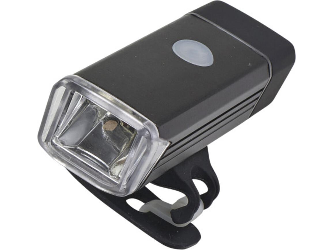COB-Freizeitlampe 'Bright side' aus Kunststoff – Schwarz bedrucken, Art.-Nr. 001999999_8457