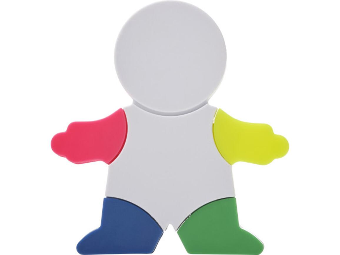 Textmarker 'Brush' in Figur-Form aus Kunststoff – Weiß bedrucken, Art.-Nr. 002999999_8535