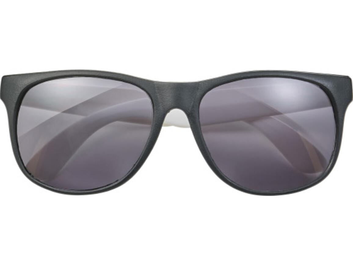 Sonnenbrille 'Heino' aus Kunststoff – Weiß bedrucken, Art.-Nr. 002999999_8556