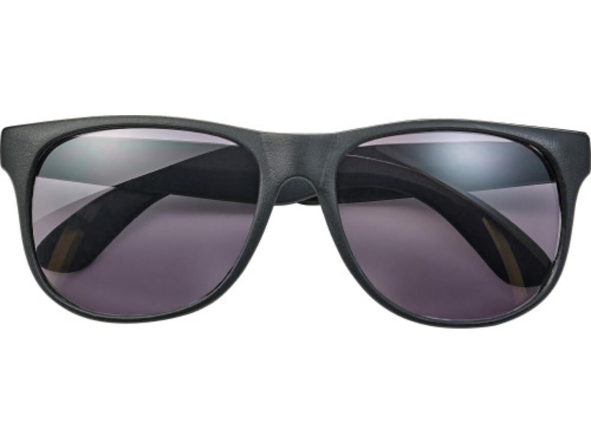 Sonnenbrille 'Heino' aus Kunststoff – Schwarz bedrucken, Art.-Nr. 001999999_8556
