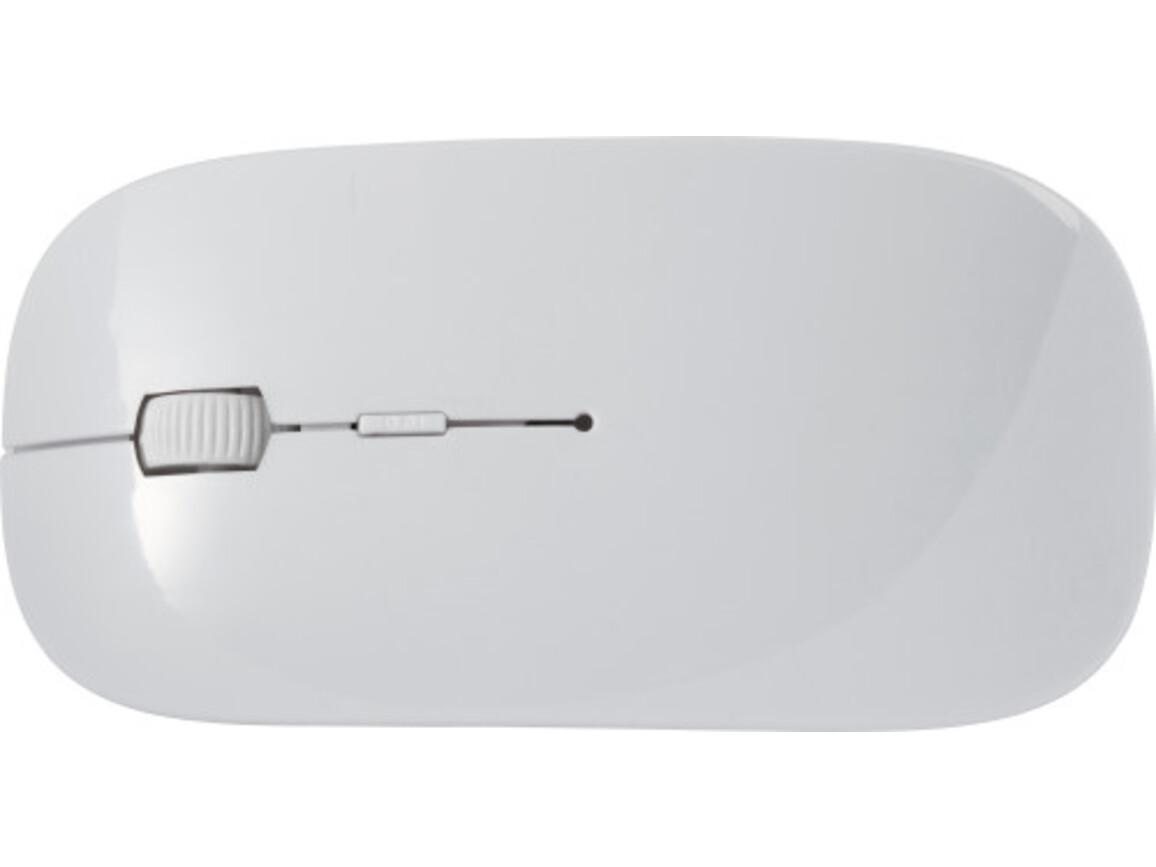Kabellose Computermaus 'Silicon Valley'' aus ABS-Kunststoff – Weiß bedrucken, Art.-Nr. 002999999_8578