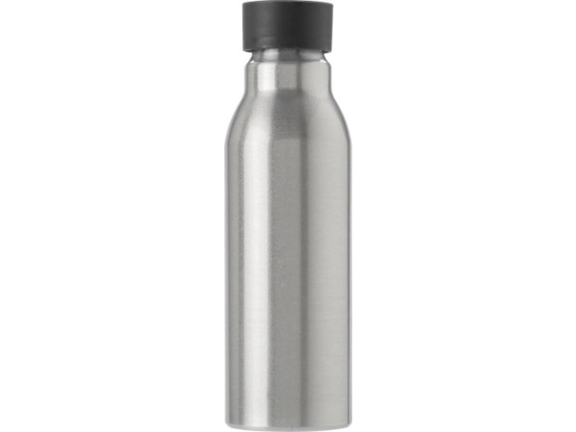 Trinkflasche 'Bidon' aus Aluminium (600 ml) – Schwarz bedrucken, Art.-Nr. 001999999_8656