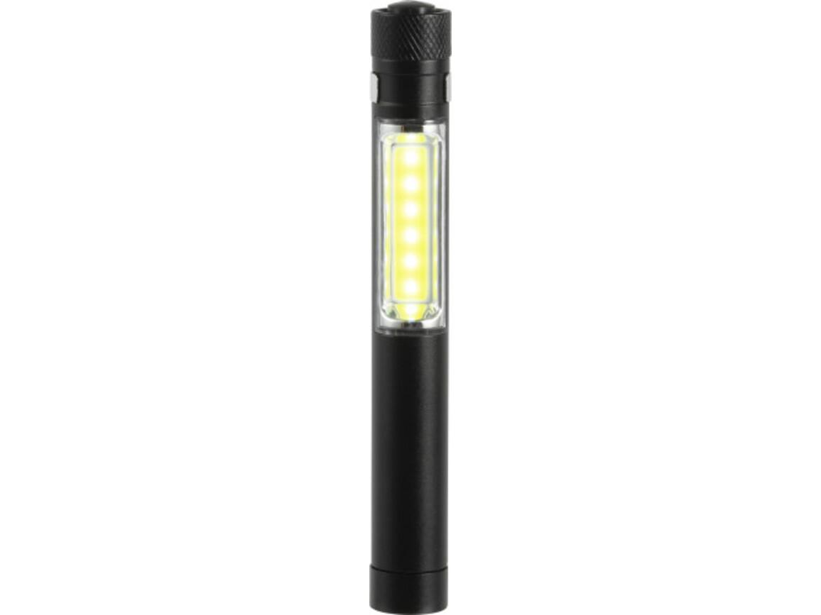 COB Taschenlampe 'Construction' – Schwarz bedrucken, Art.-Nr. 001999999_8839