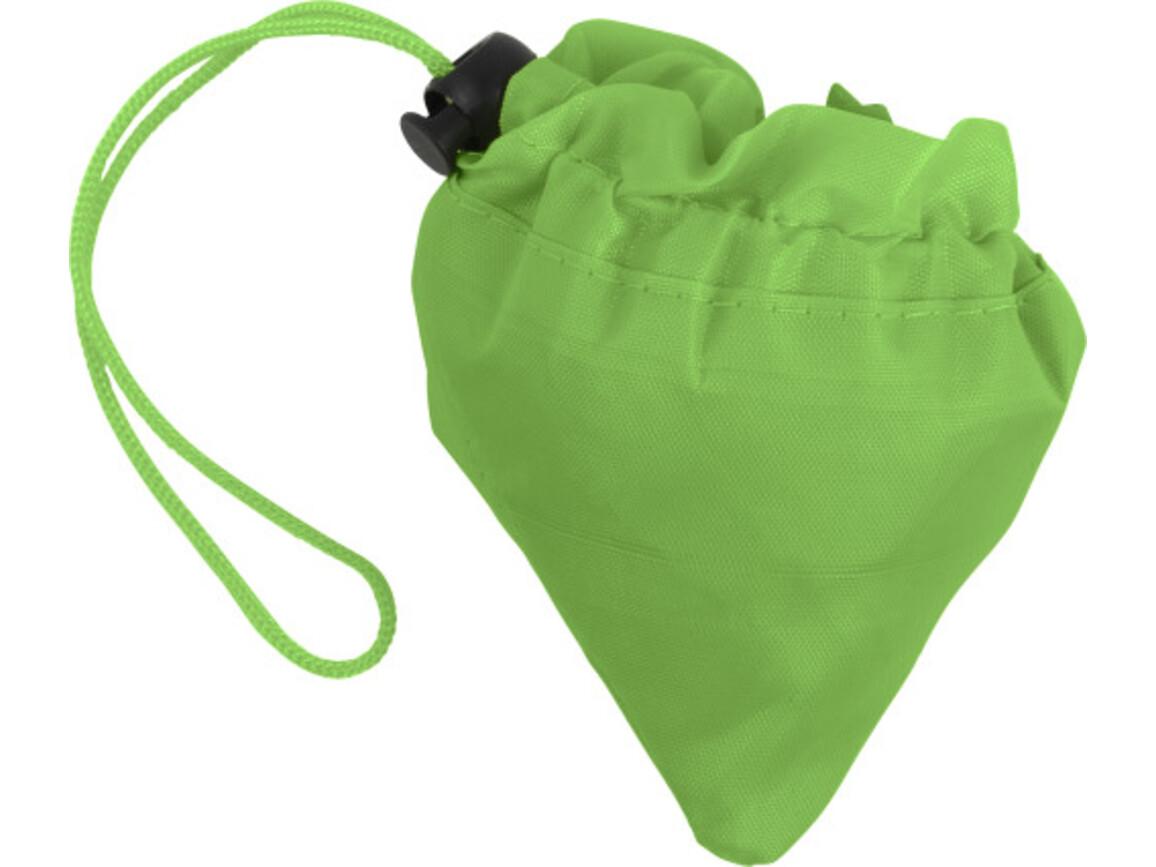 Faltbare Einkaufstasche 'Edge' aus Polyester – Grün bedrucken, Art.-Nr. 004999999_8962
