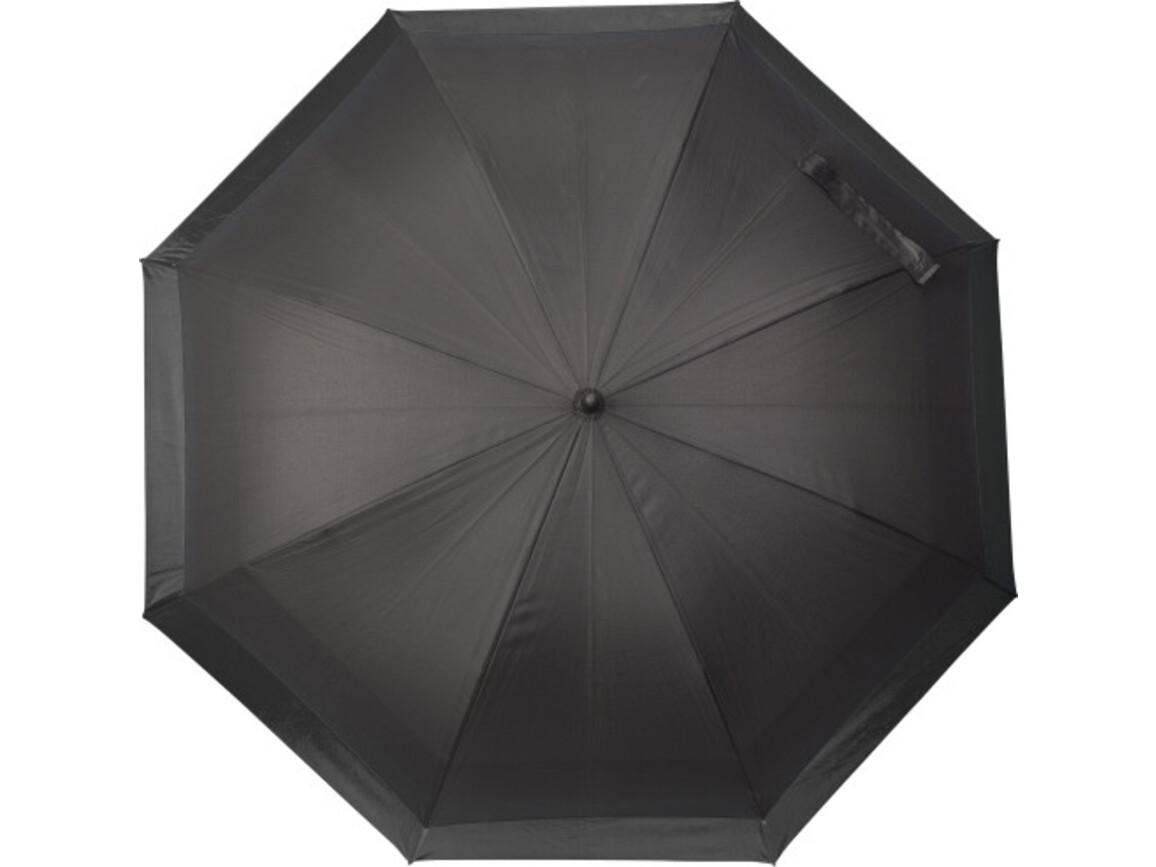 Automatischer Regenschirm 'Double' aus Pongee – Schwarz bedrucken, Art.-Nr. 001999999_8984