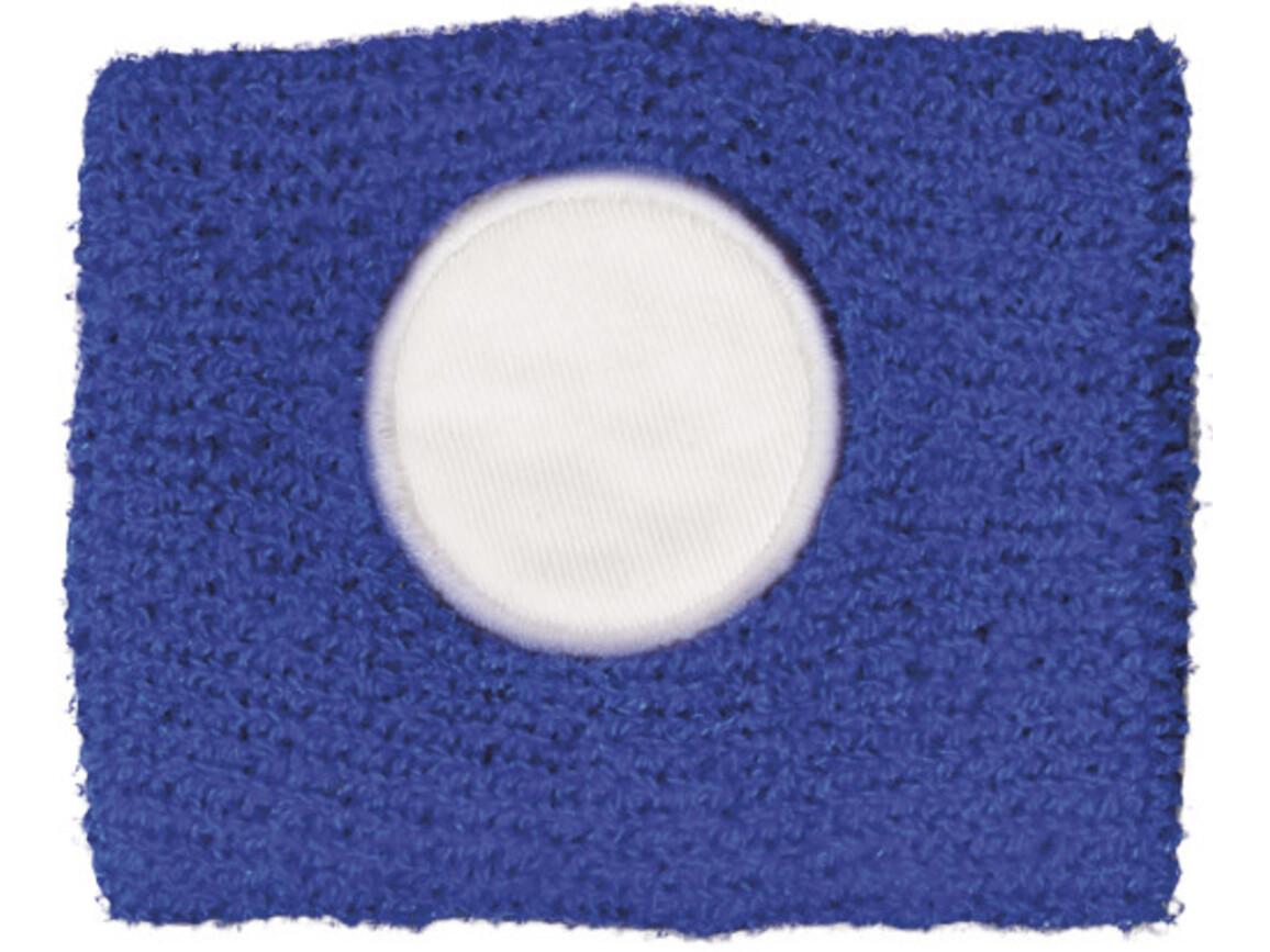 Schweißarmband aus 100 % Baumwolle – Blau bedrucken, Art.-Nr. 005999999_9078