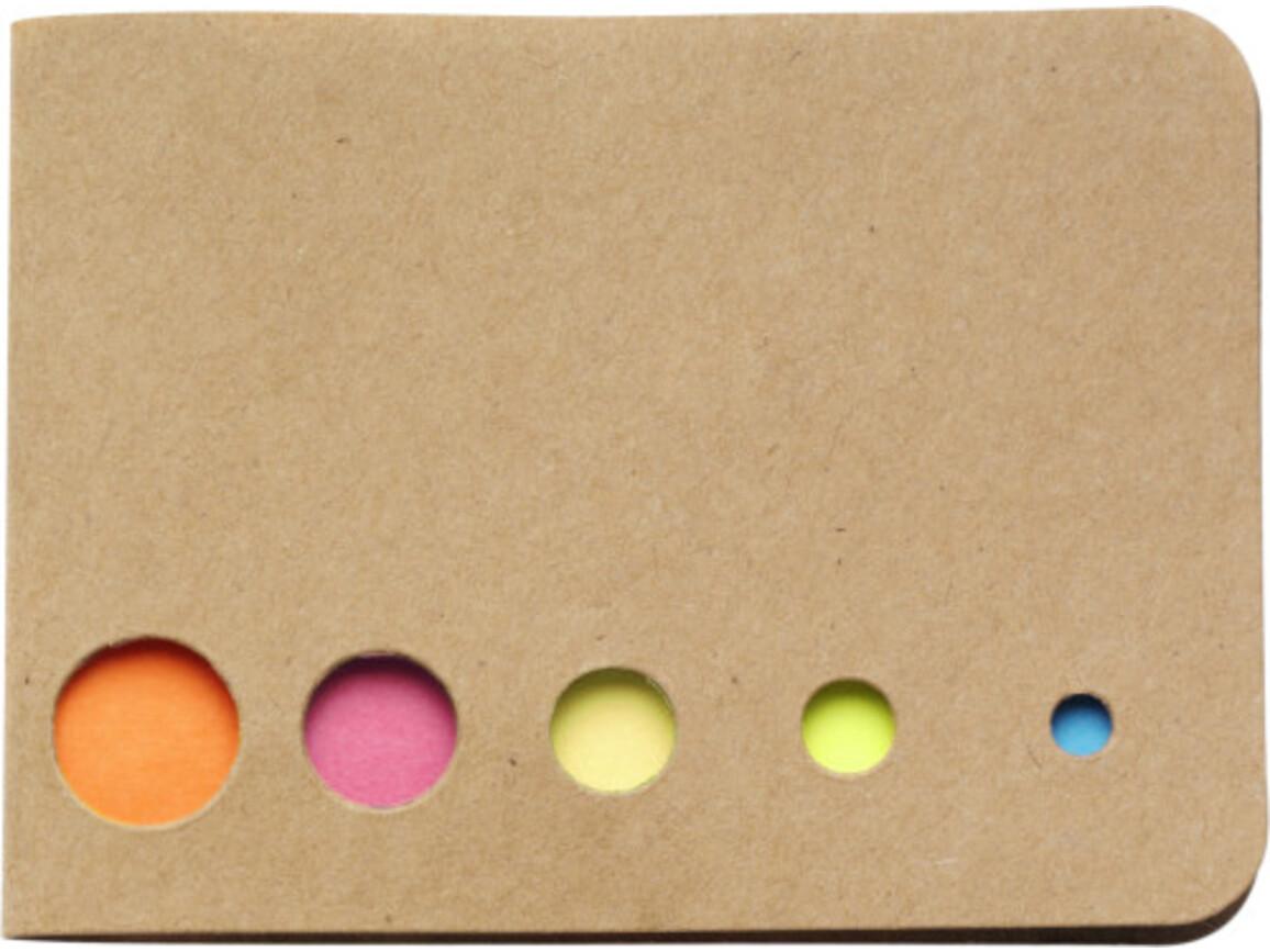 Haftnotizen 'Sticker' aus Karton – Braun bedrucken, Art.-Nr. 011999999_9104