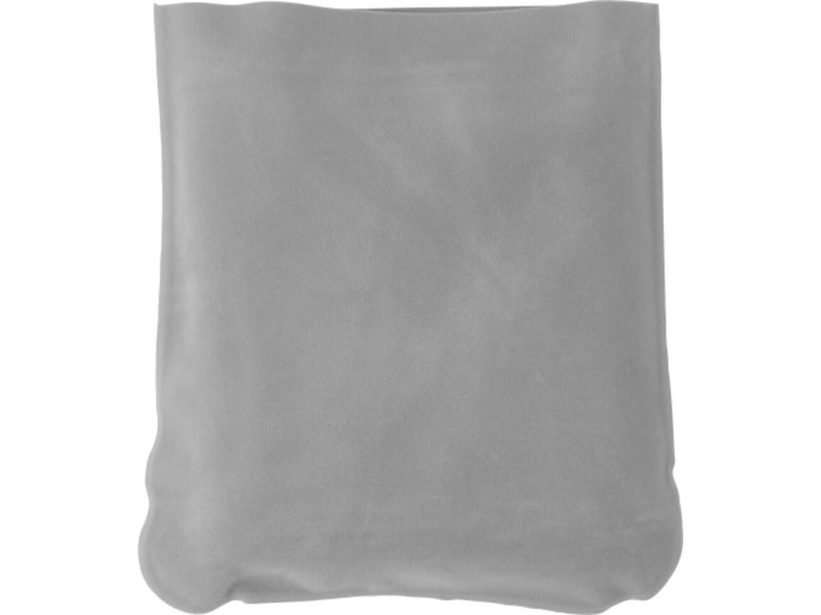 Aufblasbare Nackenstütze 'Trip' inklusive Hülle aus PVC – Hellgrau bedrucken, Art.-Nr. 027999999_9651