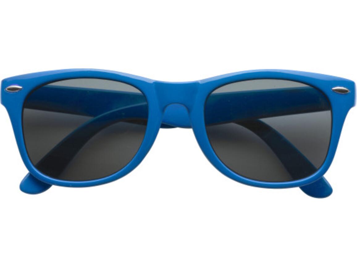 Sonnenbrille  'Fantasie' aus Kunststoff – Blau bedrucken, Art.-Nr. 005999999_9672