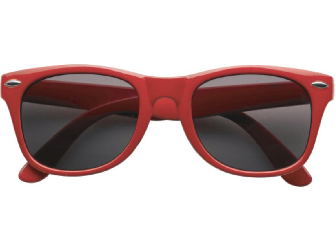 Sonnenbrille  'Fantasie' aus Kunststoff – Rot bedrucken, Art.-Nr. 008999999_9672