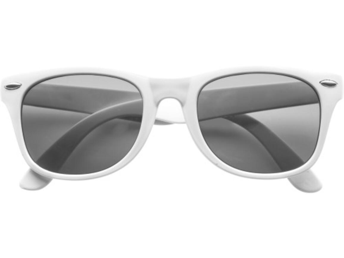 Sonnenbrille  'Fantasie' aus Kunststoff – Weiß bedrucken, Art.-Nr. 002999999_9672