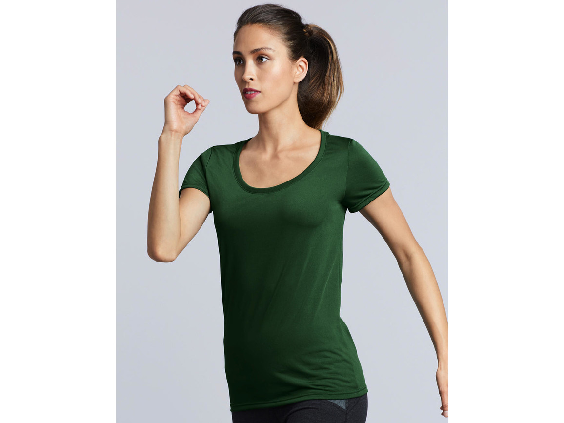 Gildan Performance Ladies` Core T-Shirt, Charcoal, M bedrucken, Art.-Nr. 010091304