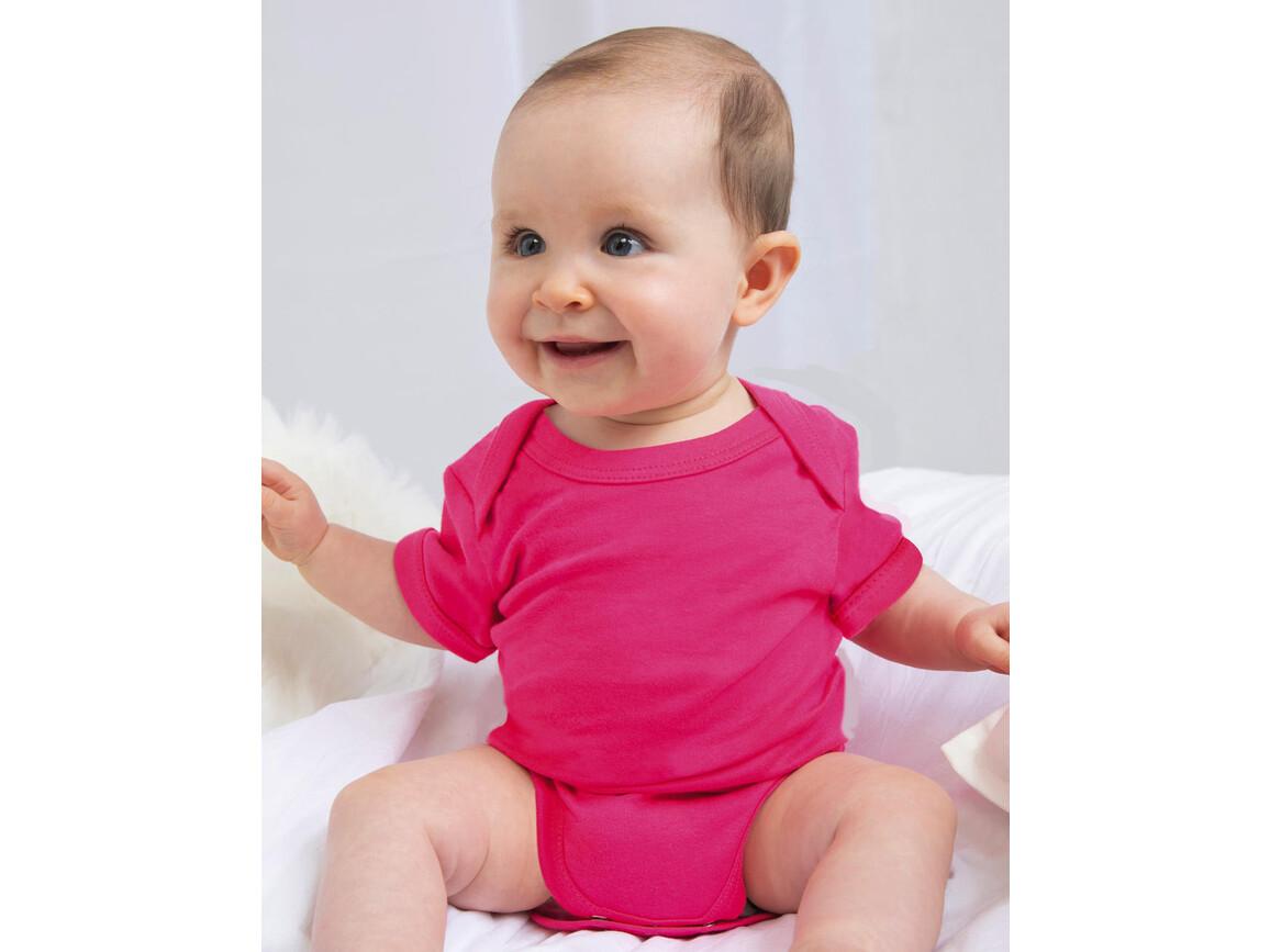 BabyBugz Baby Bodysuit, Heather Blue Organic, 3-6 bedrucken, Art.-Nr. 010473012