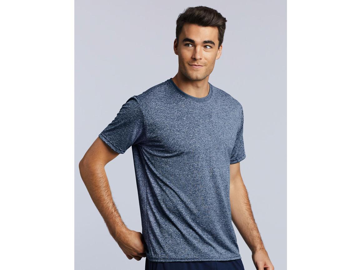Gildan Performance Adult Core T-Shirt, Heather Sport Dark Navy, XL bedrucken, Art.-Nr. 011092136