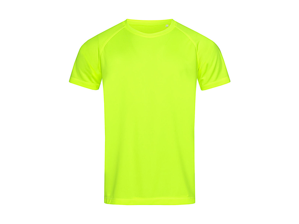 Stedman Active 140 Raglan Men, Cyber Yellow, XL bedrucken, Art.-Nr. 012056066