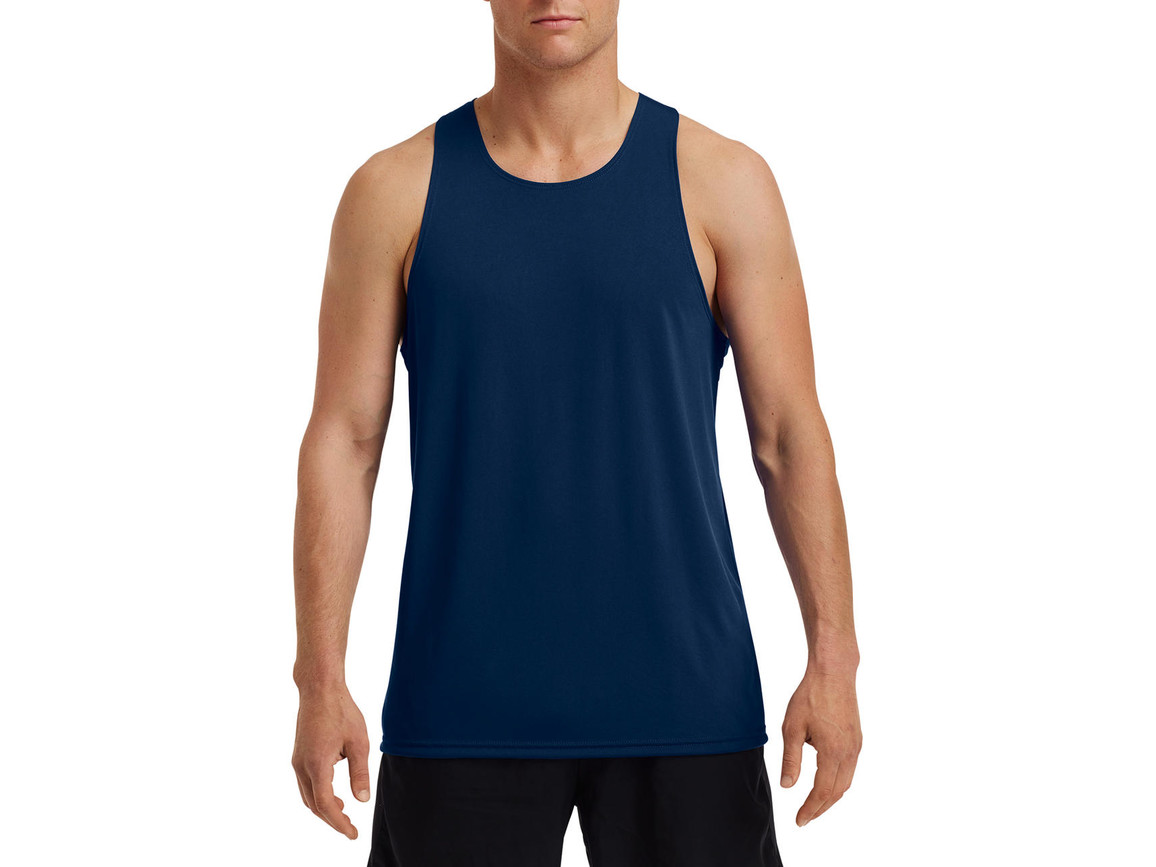 Gildan Performance® Adult Singlet, Sport Dark Navy, S bedrucken, Art.-Nr. 012092033