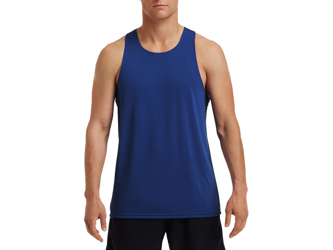 Gildan Performance® Adult Singlet, Sport Royal, 2XL bedrucken, Art.-Nr. 012093027