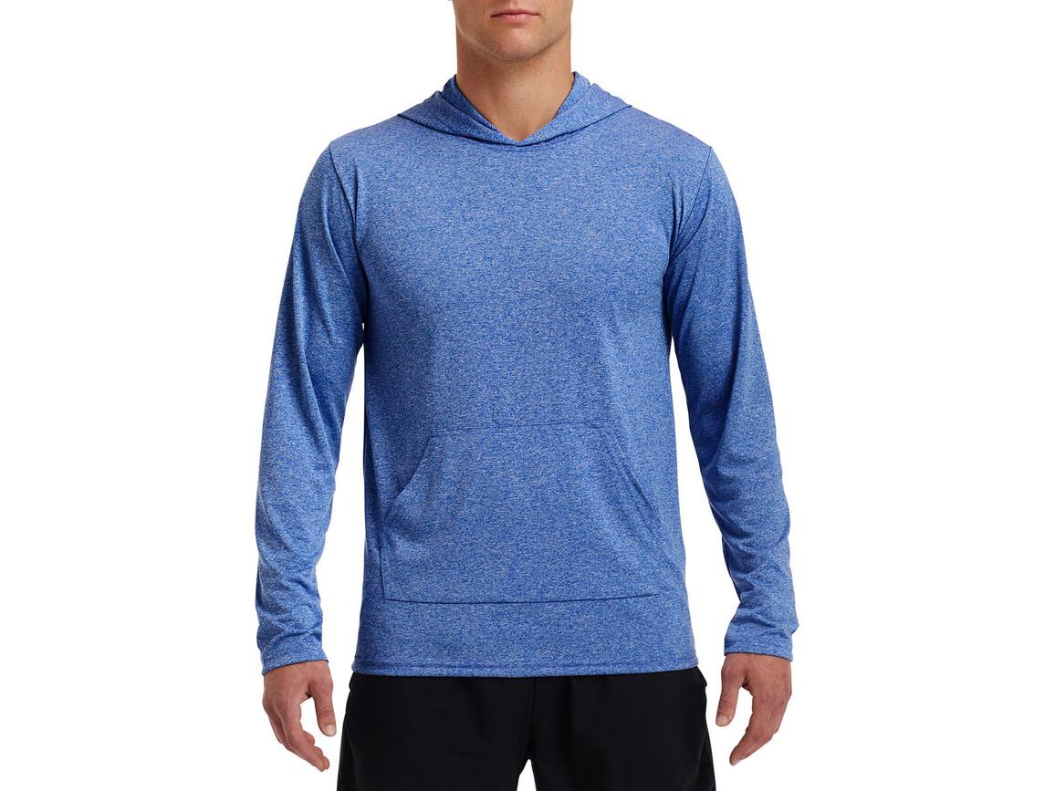 Gildan Performance® Adult Hooded T-Shirt, Heather Sport Royal, 3XL bedrucken, Art.-Nr. 013093128