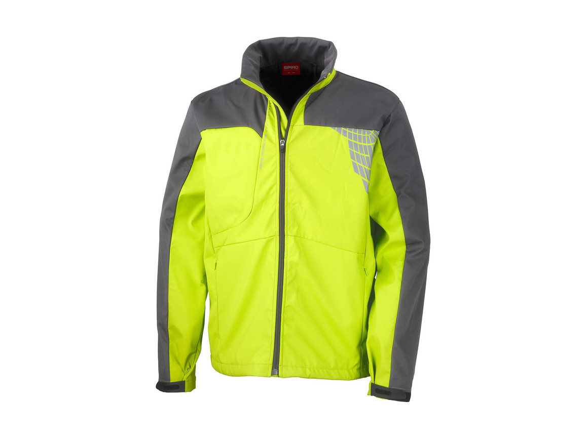 Result Men`s Team Soft Shell Jacket, Lime/Grey, L bedrucken, Art.-Nr. 014335555