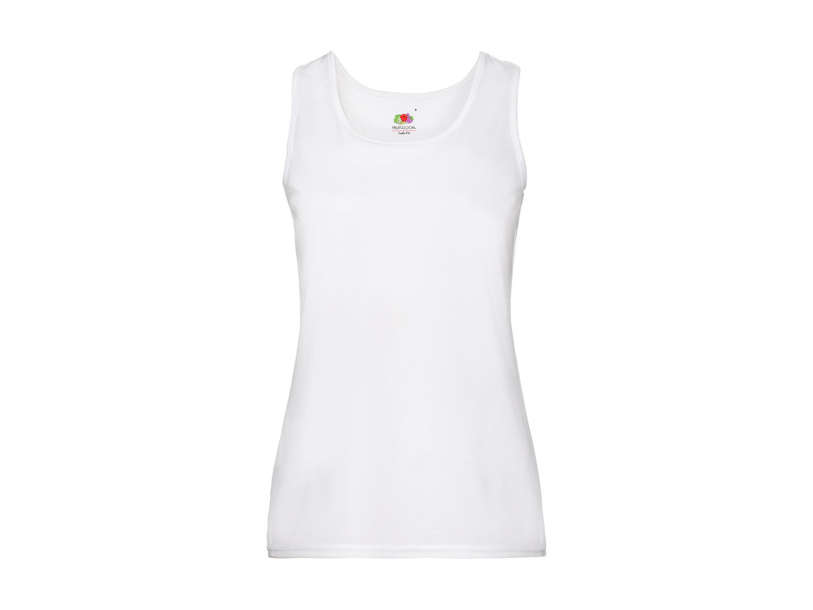 Fruit of the Loom Ladies` Performance Vest, White, M bedrucken, Art.-Nr. 015010004