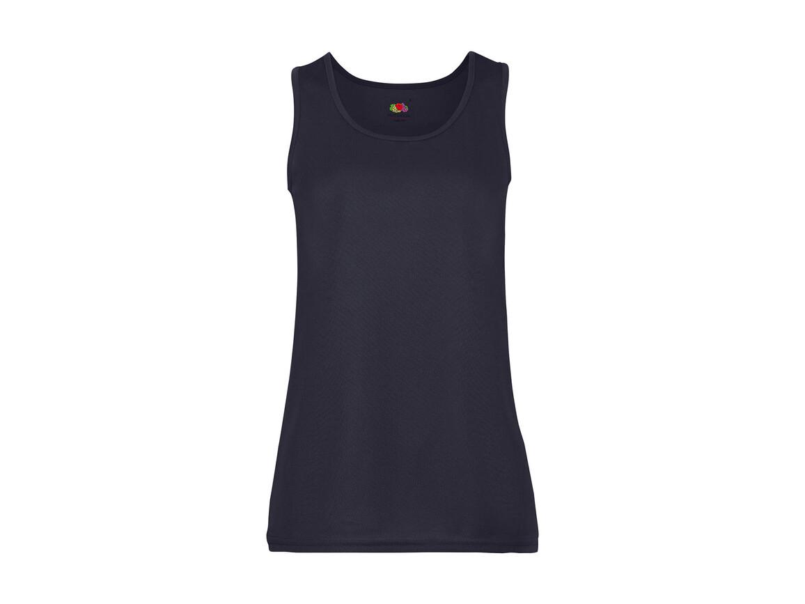 Fruit of the Loom Ladies` Performance Vest, Deep Navy, XS bedrucken, Art.-Nr. 015012022