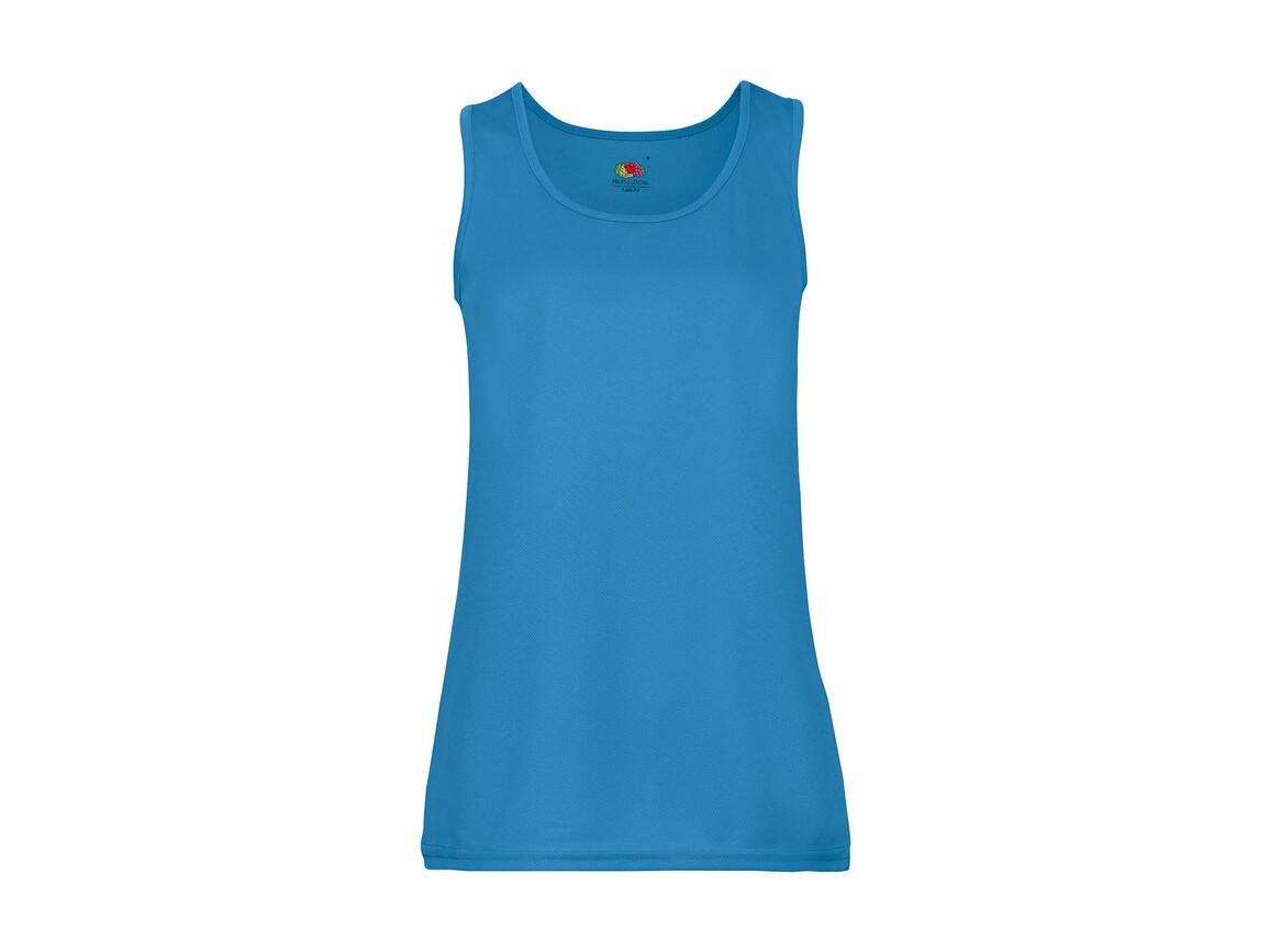Fruit of the Loom Ladies` Performance Vest, Azure Blue, XL bedrucken, Art.-Nr. 015013106
