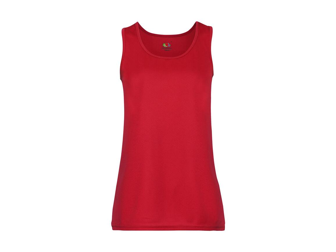 Fruit of the Loom Ladies` Performance Vest, Red, 2XL bedrucken, Art.-Nr. 015014007