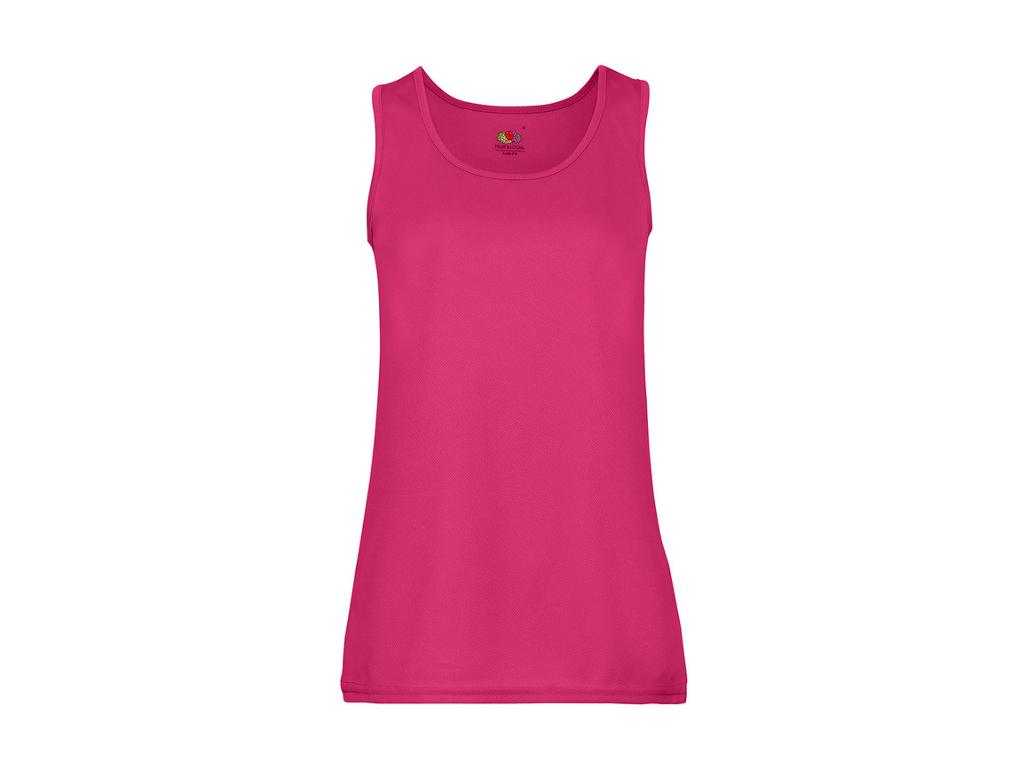 Fruit of the Loom Ladies` Performance Vest, Fuchsia, 2XL bedrucken, Art.-Nr. 015014397