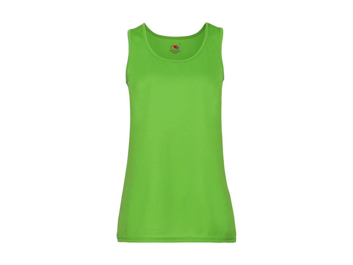 Fruit of the Loom Ladies` Performance Vest, Lime Green, L bedrucken, Art.-Nr. 015015215