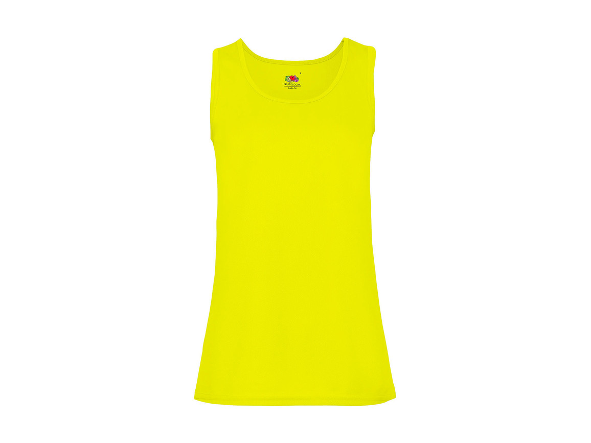 Fruit of the Loom Ladies` Performance Vest, Bright Yellow, L bedrucken, Art.-Nr. 015016025