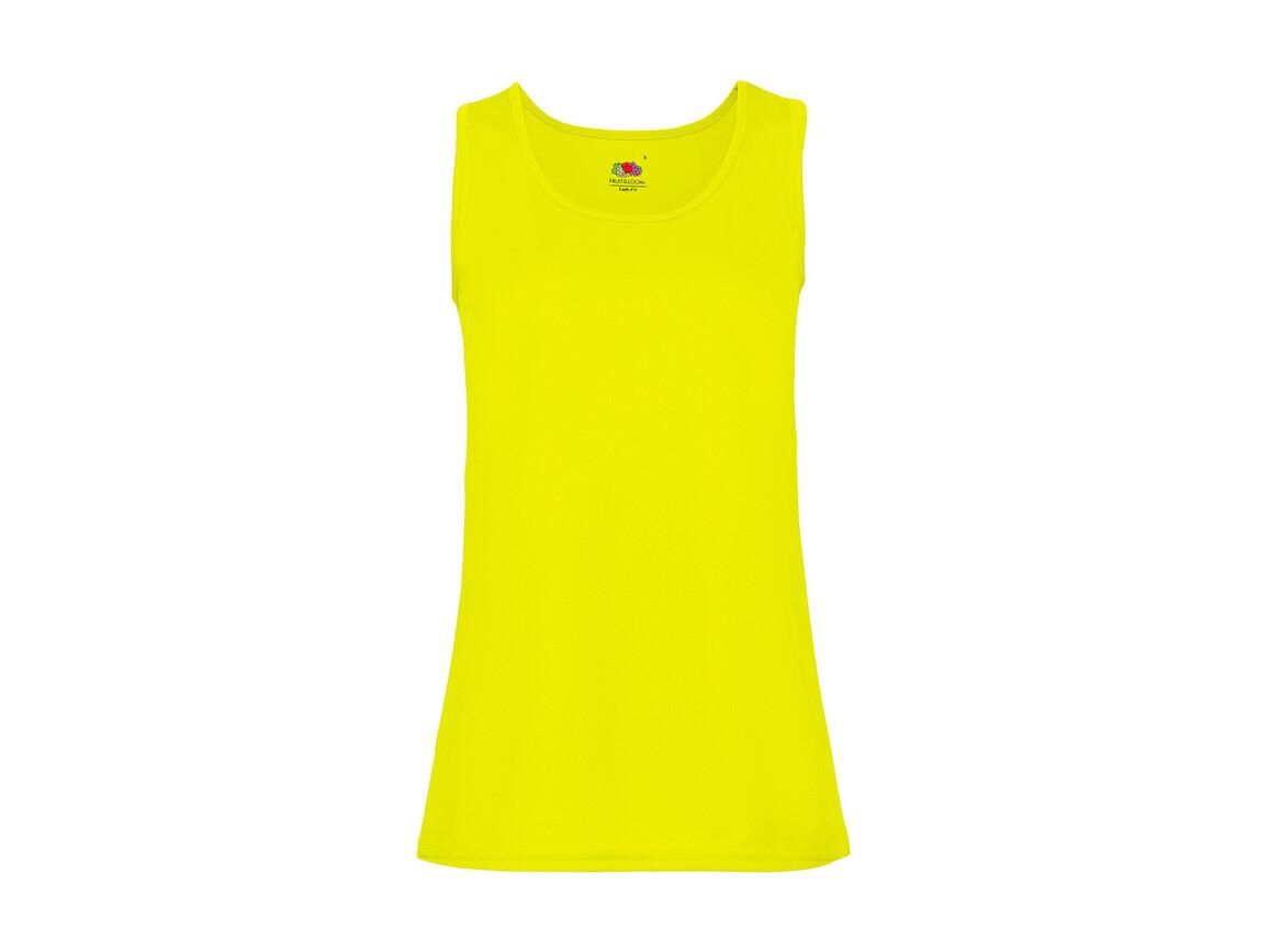 Fruit of the Loom Ladies` Performance Vest, Bright Yellow, M bedrucken, Art.-Nr. 015016024