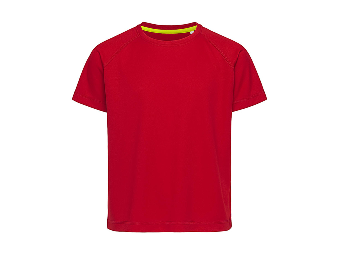 Stedman Active 140 Raglan Kids, Crimson Red, M (134-140) bedrucken, Art.-Nr. 015054414