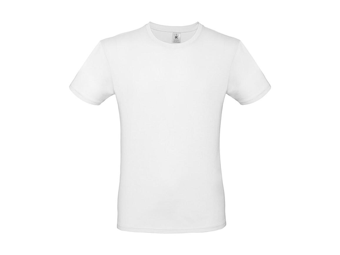 B & C #E150 T-Shirt, White, S bedrucken, Art.-Nr. 015420001
