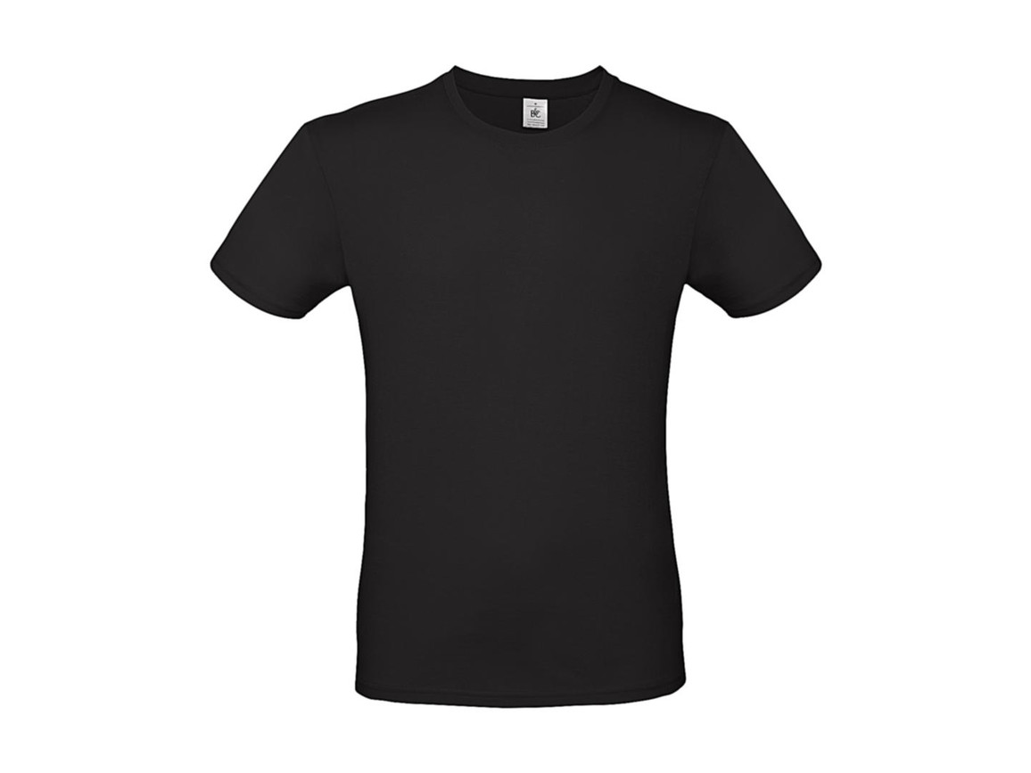 B & C #E150 T-Shirt, Black, XS bedrucken, Art.-Nr. 015421010