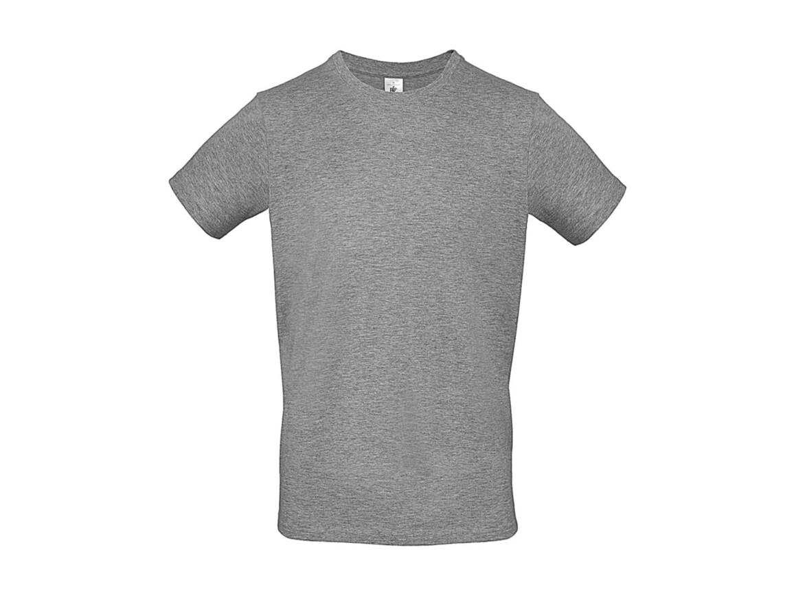 B & C #E150 T-Shirt, Sport Grey, M bedrucken, Art.-Nr. 015421252