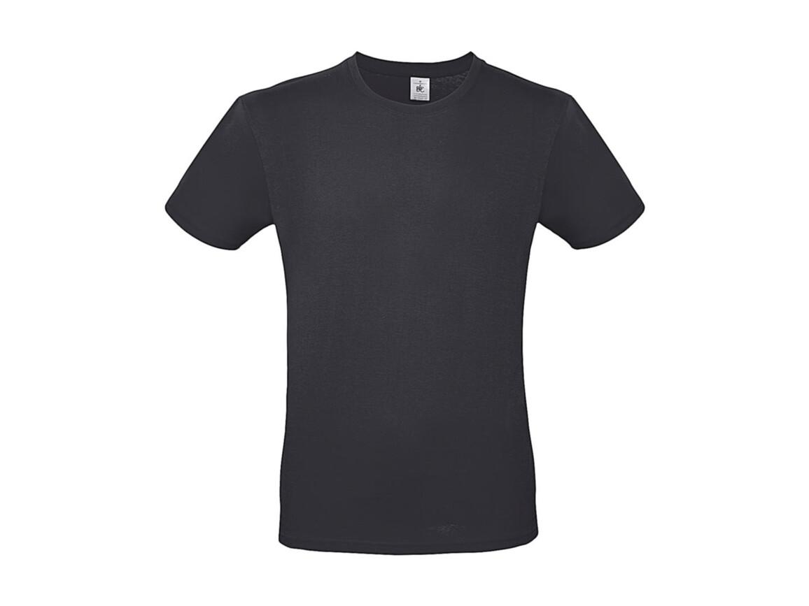 B & C #E150 T-Shirt, Dark Grey, S bedrucken, Art.-Nr. 015421281