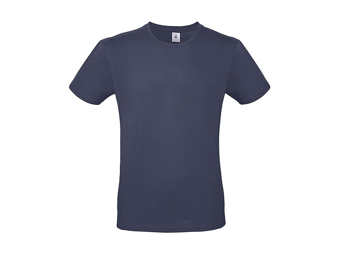 B & C #E150 T-Shirt, Denim, L bedrucken, Art.-Nr. 015423193