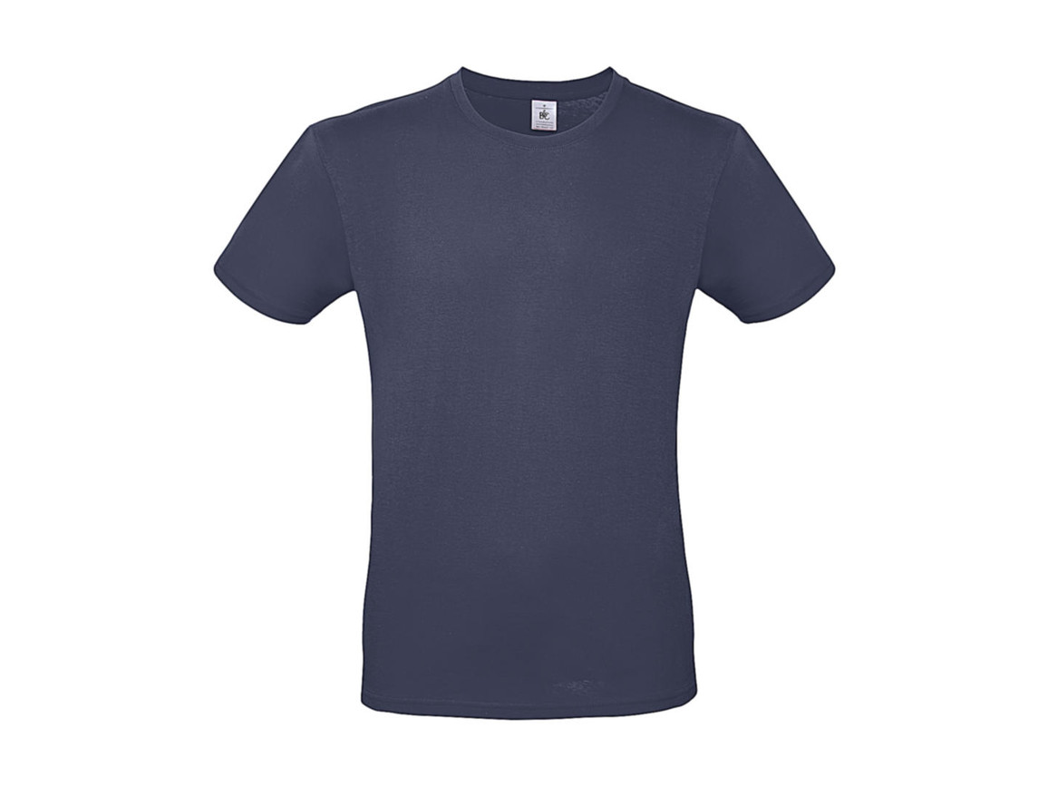 B & C #E150 T-Shirt, Denim, S bedrucken, Art.-Nr. 015423191